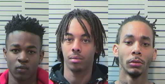 Gerjuan Jackson (left) Kenley Campbell (center) and Darril Rankin, Jr. (right) (Mobile County Metro Jail)