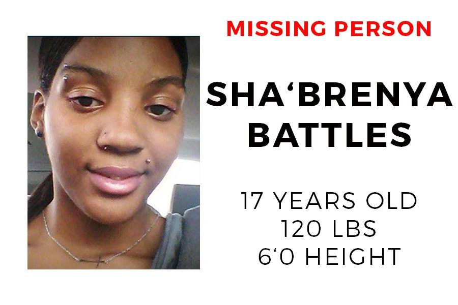 The Mobile County Sheriff's office say that on December 5, 2017, 17-year-old Sha'Brenya Battles left her residence and has not returned.  Photo: MCSO