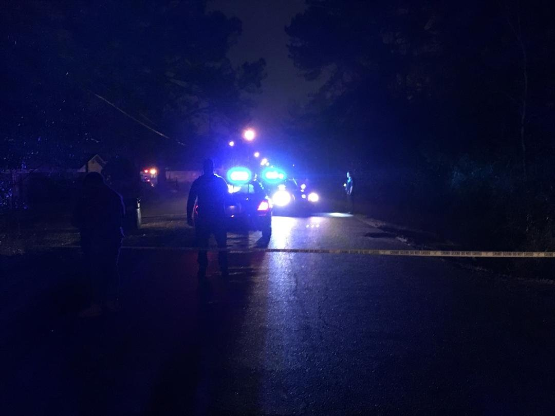 Homicide scene in Prichard on January 11, 2018 (FOX10 News)