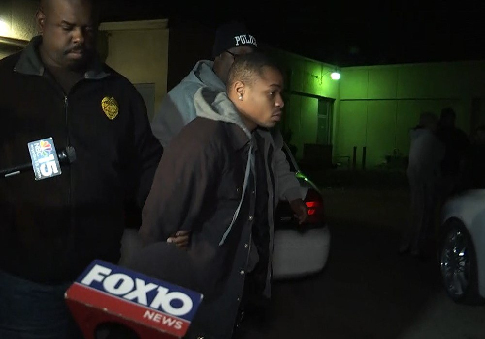 Montreal Standberry is pictured as Prichard Police ready to transport him to Mobile County Metro Jail. (Photo: Kendall Faust, FOX10 News)