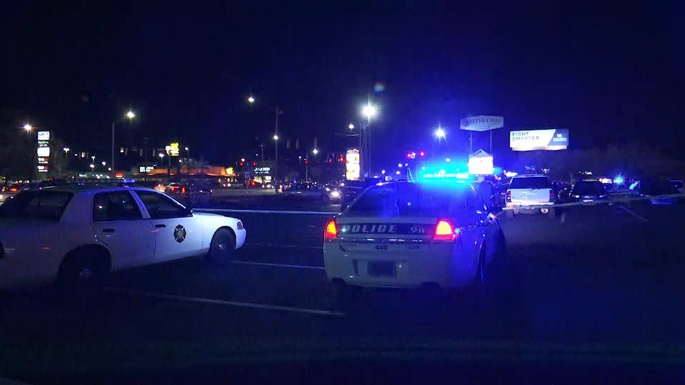 Police on scene at Airport Boulevard shopping center. (Photos: Kendall Faust, FOX10 News)