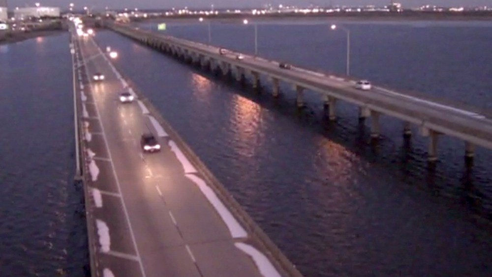 Here's a view of the I-10 Bayway on a chilly Thursday morning, Jan, 18, 2018. (ALDOT)