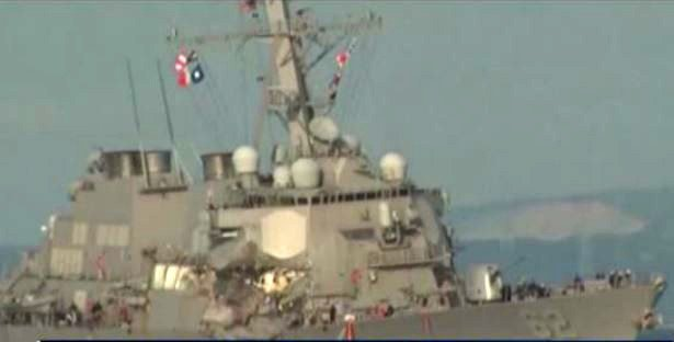 USS Fitzgerald arrives in MS for repairs from fatal collision