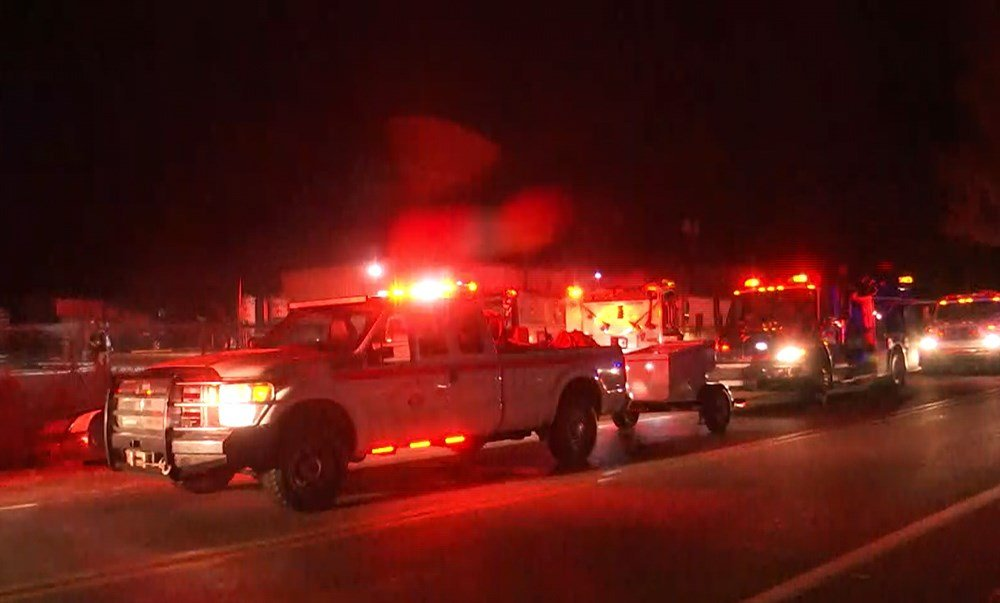 Fire units on scene on Padgett Switch Road (Photo: Kendall Faust, FOX10 News)