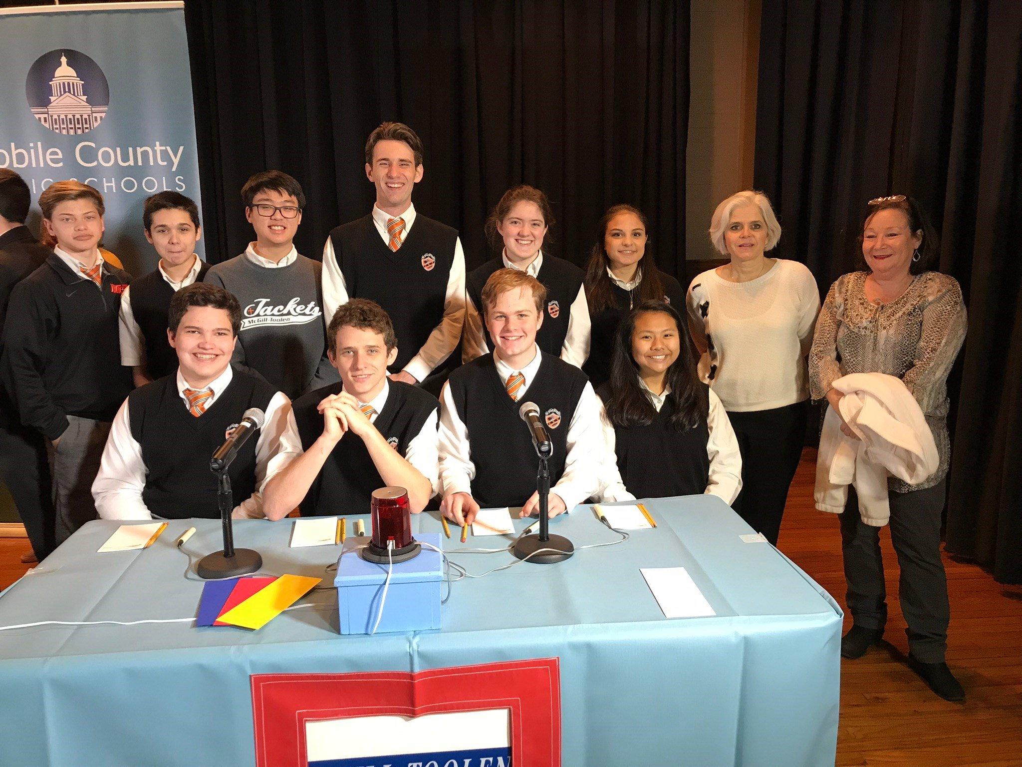 McGill-Toolen Catholic High School HiQ team (Photo: Bob Grip)