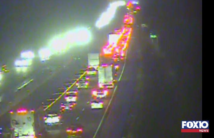 Traffic stalled on I-10 WB