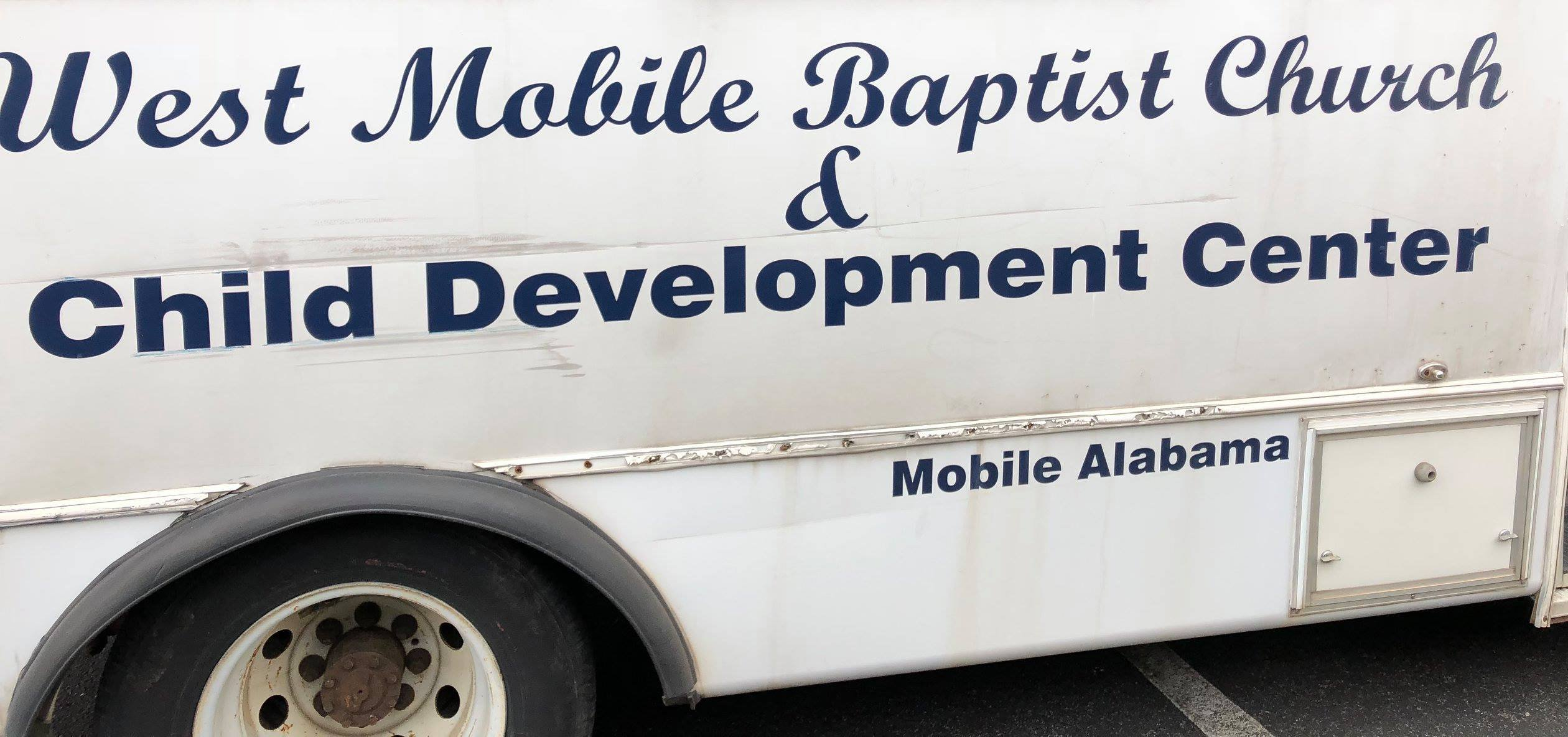 This is the logo that will be on the side of the trailer that was stolen from West Mobile Baptist Church. (Click to enlarge)