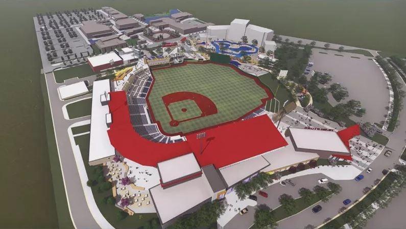 Rendering of minor league baseball stadium to be built in Madison (Ballcorps LLC)
