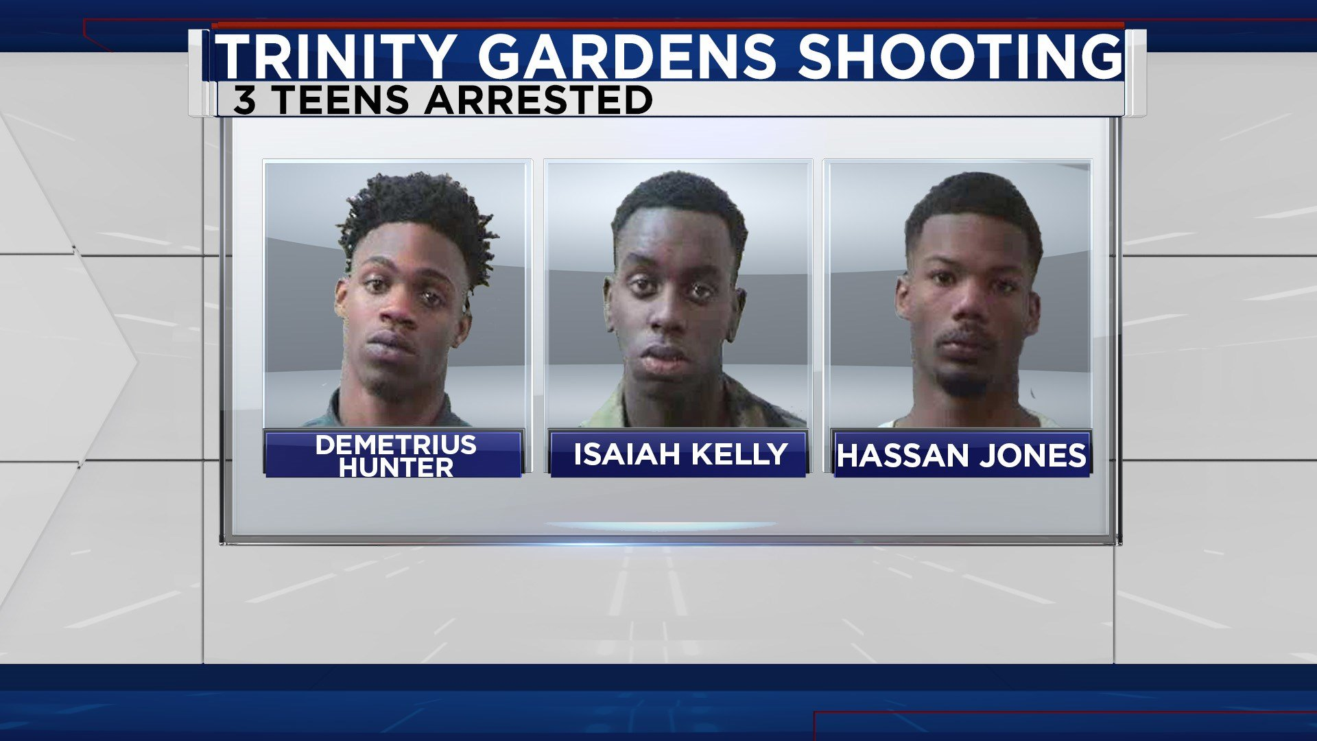 Judge Basenberg denied the Mobile County District Attorney's request to hold the Trinity Garden shooters without bond. He granted bonds but added the condition that 10% of the bond be in cash about $12,000. Photo: FOX10 News.