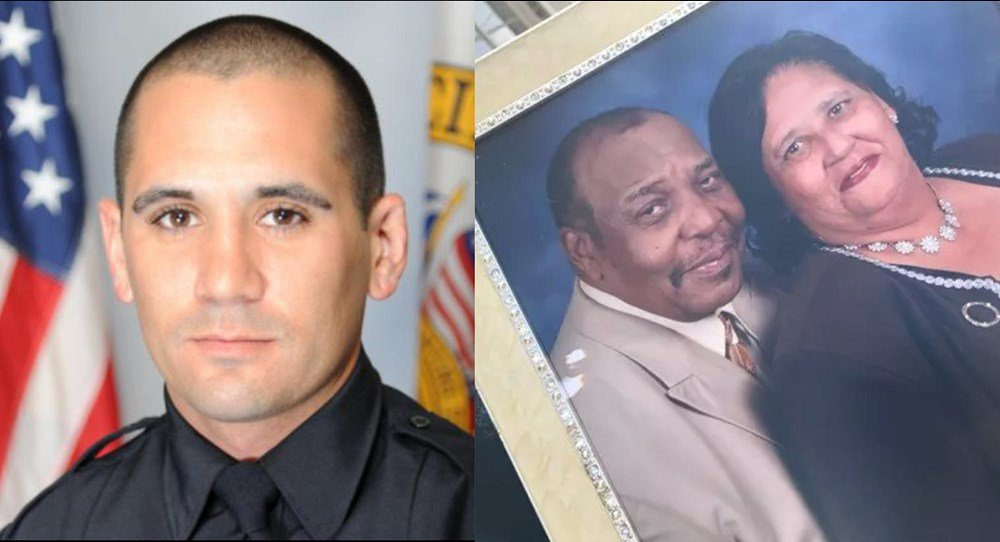 Left: MPD slain officer Justin Billa; Right: Robert Hollie and Fonda Poellnitz are seen in a picture provided by family.