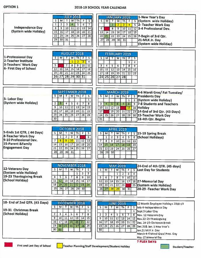 The Mobile County Board of Commissioners has approved the school calendar  for the 2018-19