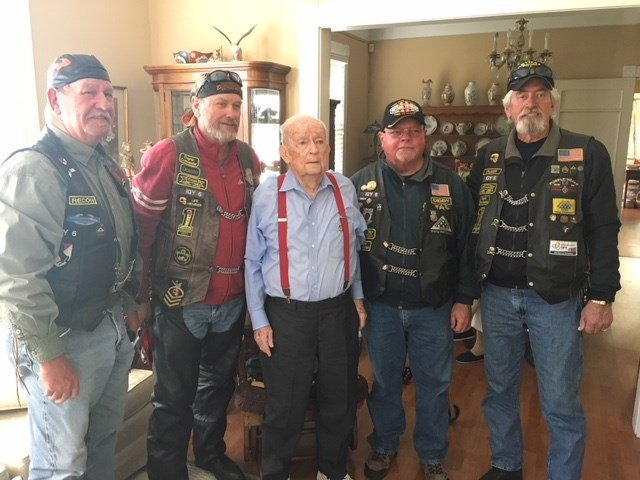 Combat Veterans Motorcycle Association honors local WWII Veteran Porter Roberts for his service. Source: FOX 10 News