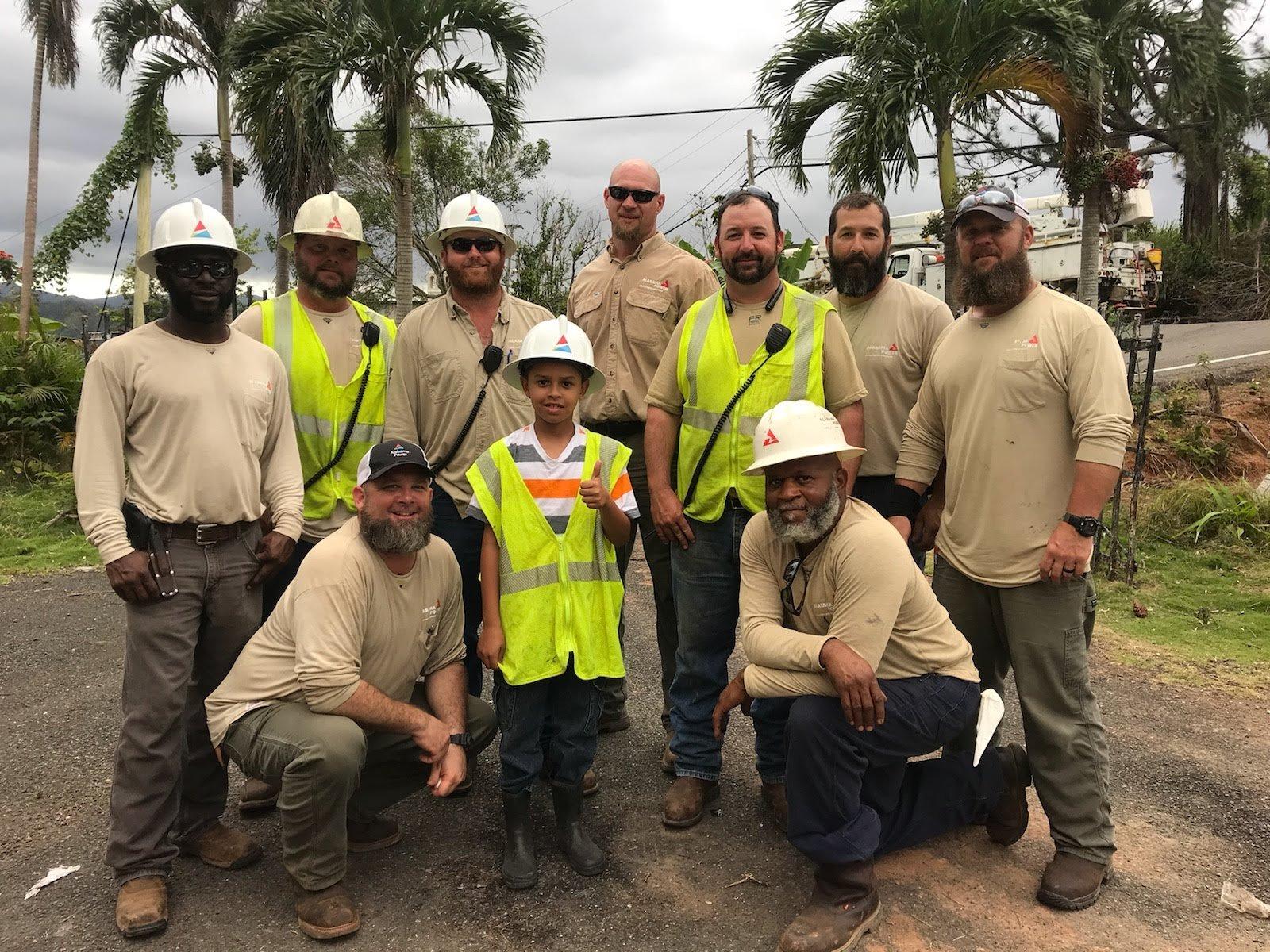 AL Power helping restore power in Puerto Rico. Source: AL Power