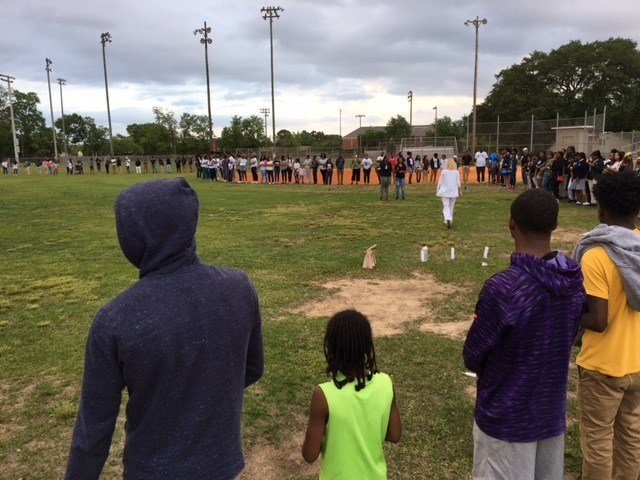 Anesa Baker's friends and family gathered for a candlelight vigil Friday, April 13th. Photo: FOX10 News Reporter Alexa Knowles.