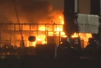 Generator fire at BAE Systems in Mobile. April 14, 2018. (FOX10 News)