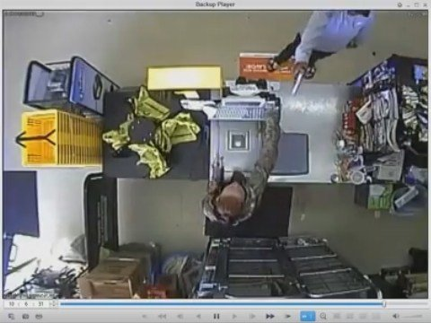 Armed robbery at Dollar General on April 16, 2018. (Mobile Police)
