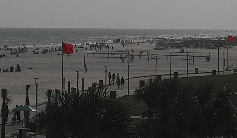 Red flags in Gulf Shores on Saturday, April 21, 2018. (FOX10 News)