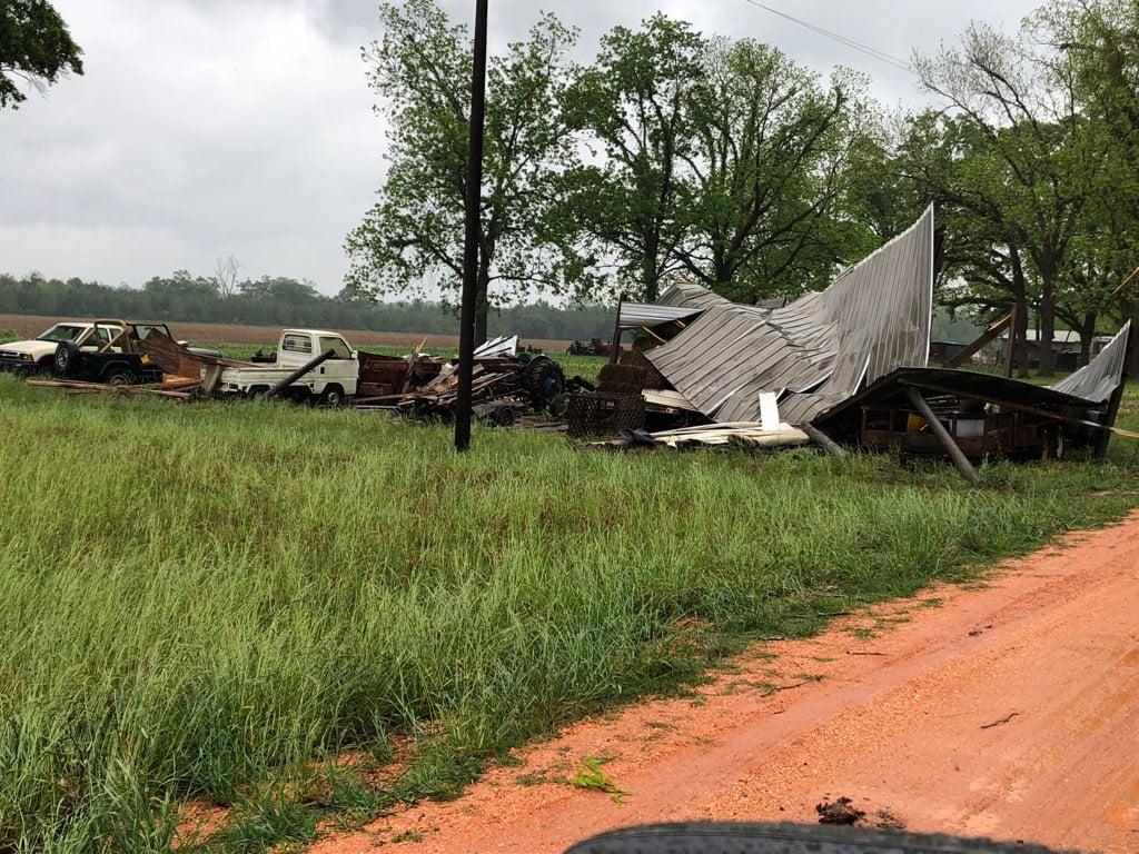 Escambia County, Alabama storm damage. April 22, 2018 (Photo: Escambia County Sheriff's Office)
