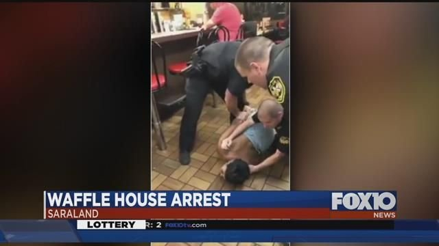 Two Officers Wrestle Black Woman to the Floor at Alabama Waffle House