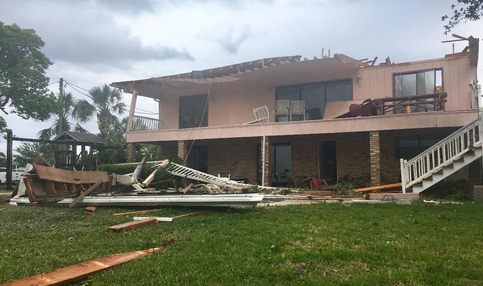 Home damaged by tornado in Fort Walton Beach (Photo: Okaloosa County Sheriff's Office)