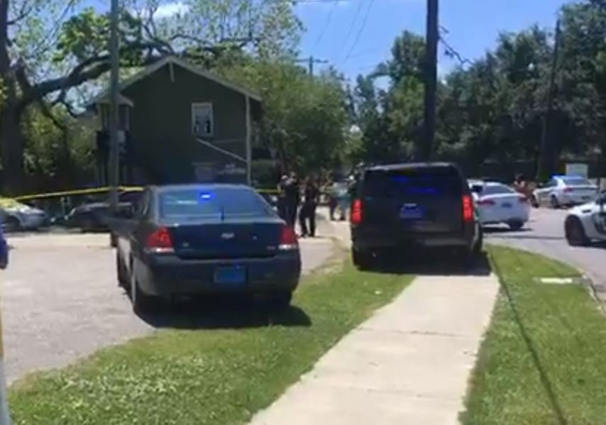 Shooting scene at Dr. Martin Luther King Jr. Avenue and N. Lafeyette St. (FOX10 News)