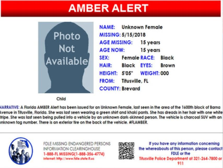 Amber Alert issued for 15-year-old girl seen pulled into vehicle