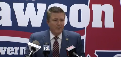 Gubernatorial candidateScott Dawson called into question state funds he claims were awarded to an LGBTQ group duringGovernorKay Ivey's time in office.