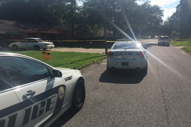 Shooting scene in Toulminville on May 21, 2018. (FOX10 News)