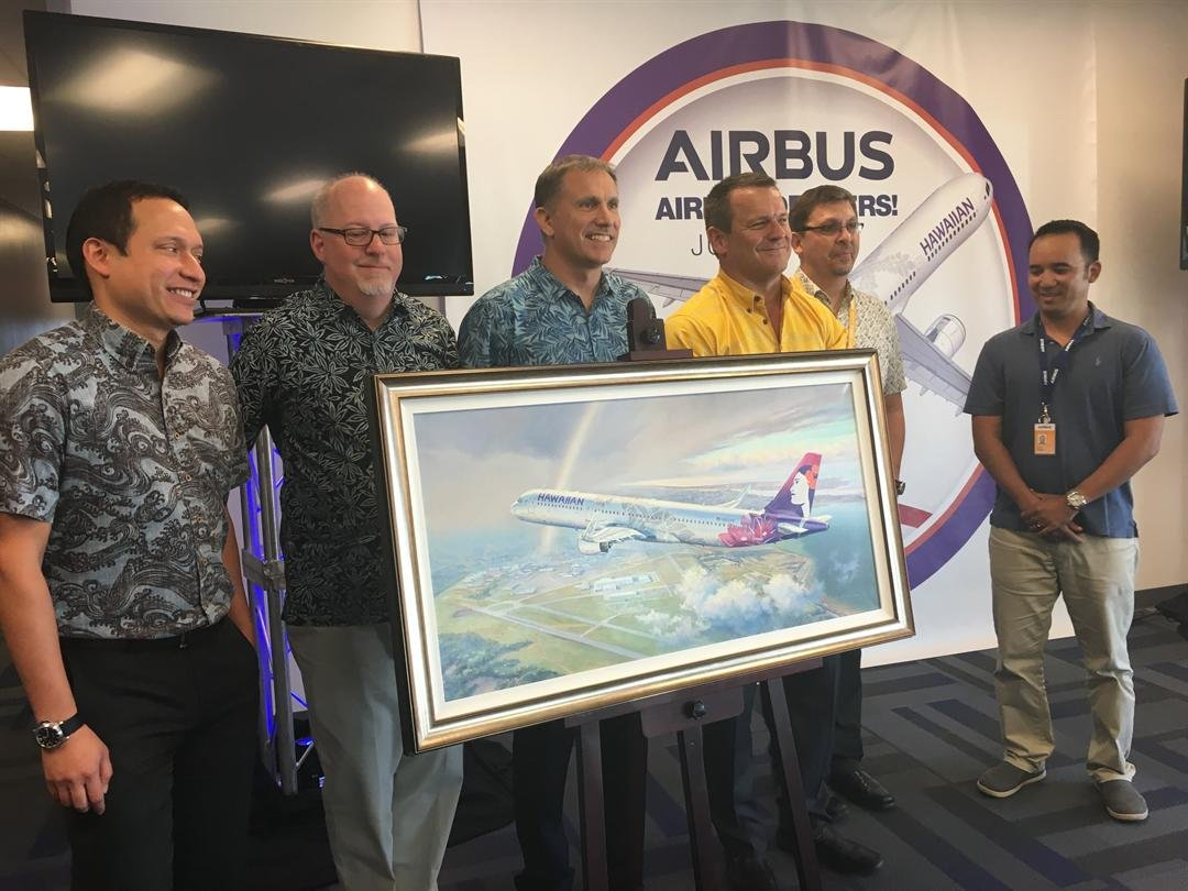 Airbus delivers first U.S. assembled A321 NEO aircraft to Hawaiian Airlines (Reporter: Asha Staples, Reporter)