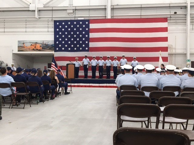Coast Guard members are awarded for their work during last year's busy hurricane season. Photo: FOX10 News Reporter Alexa Knowles.