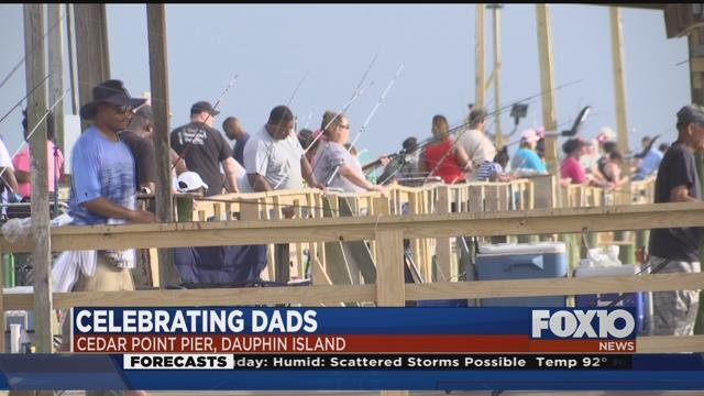 Families at Cedar Point Pier on Dauphin Island enjoying Father's Day. Source: FOX 10 News