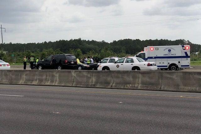 Deadly crash on I-65 in Prichard on June 18, 2018. (FOX10 News)