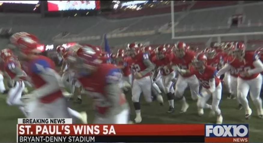 St. Paul's 2017 5A title win (FOX10 News)