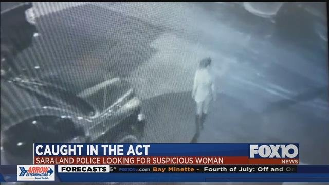 Saraland Police want to identify this woman, who is suspected of car break-ins at a local hotel. Source: Saraland Police