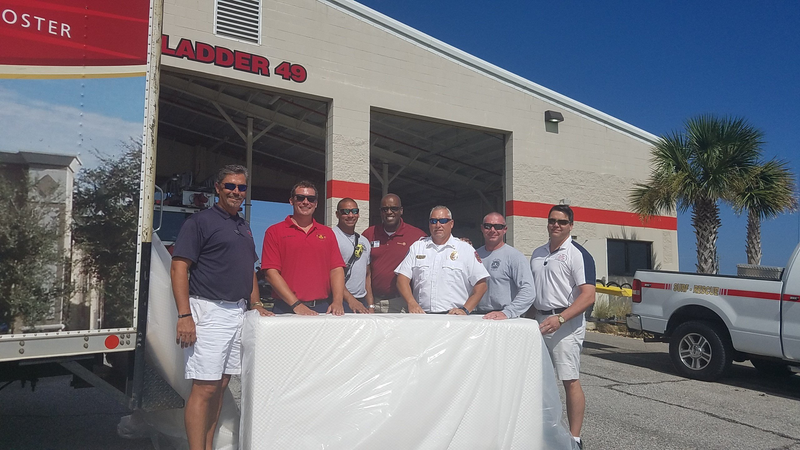 Sleep Center donates mattresses to fire departments in Northwest Florida. (Photo from Sleep Center)