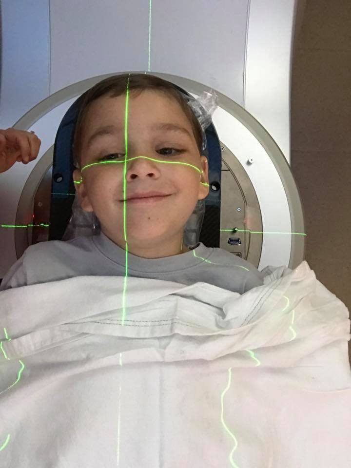 Baxter Duddy, 7, fighting brain cancer. Source: Family