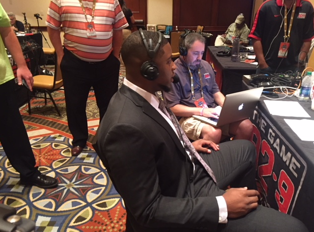 SEC media days underway and players from the University of Alabama are scheduled to take radio row.