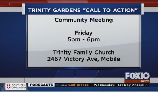 """Trinity Gardens """"Call to Action"""" community meeting"""