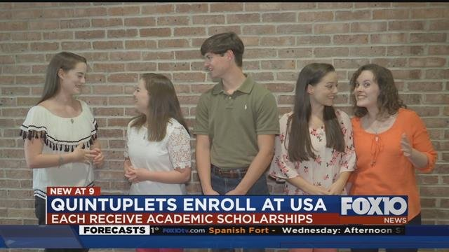 Zimlich quints enroll at University of South Alabama. Source: FOX 10 News