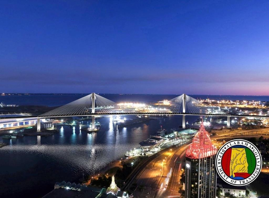Artist's conception of I-10 Bridge project (Graphic: ALDOT)