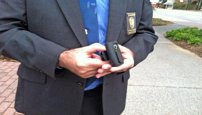 Body camera Fairhope Police officers wear. (WALA)