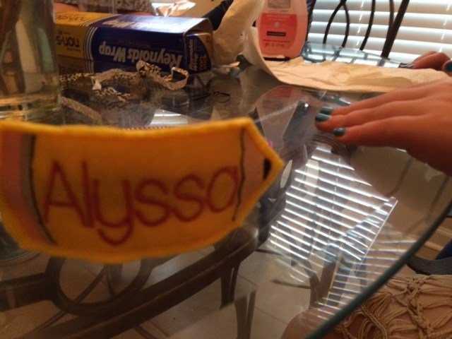 Each girl walked away with a personalized headband and other goodies.