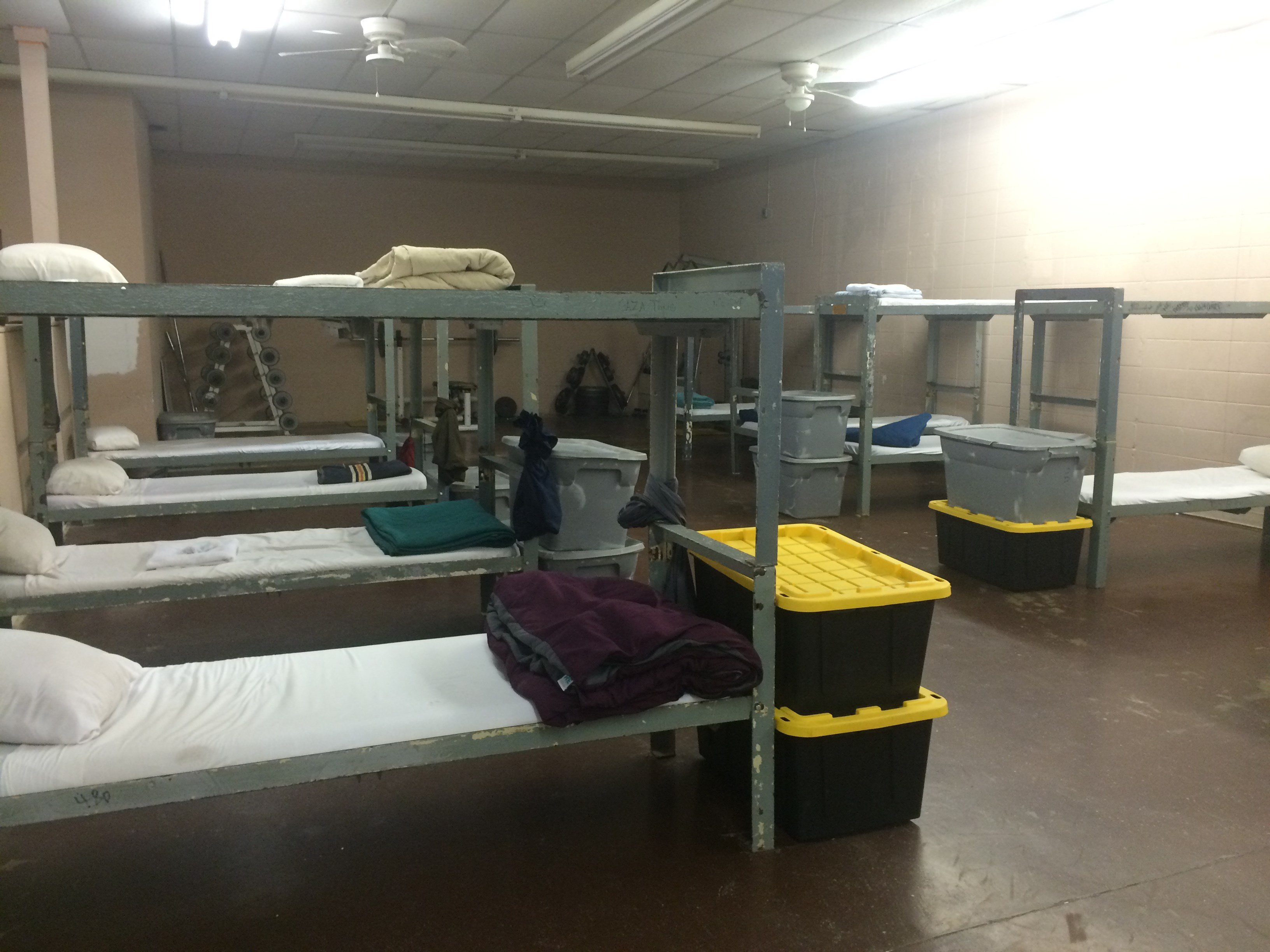 The sleeping quarters of children in the Saving Youth Foundation. Three people affiliated with the facility have been charged with aggravated abuse.