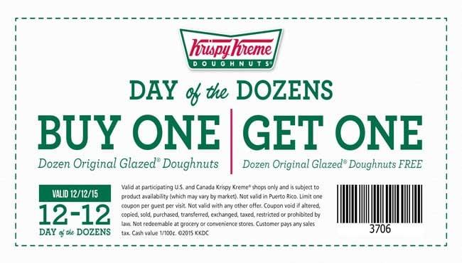 Buy a dozen, get a dozen free at Krispy Kreme Saturday