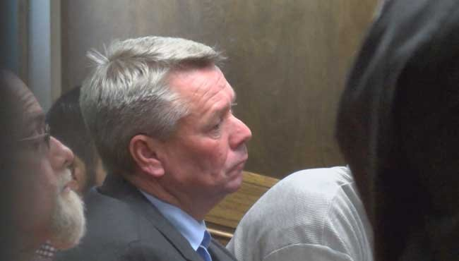Former Mobile County Commissioner Steve Nodine is back in jail Wednesday, January 13, after a judge accepted a plea deal for probation violations.