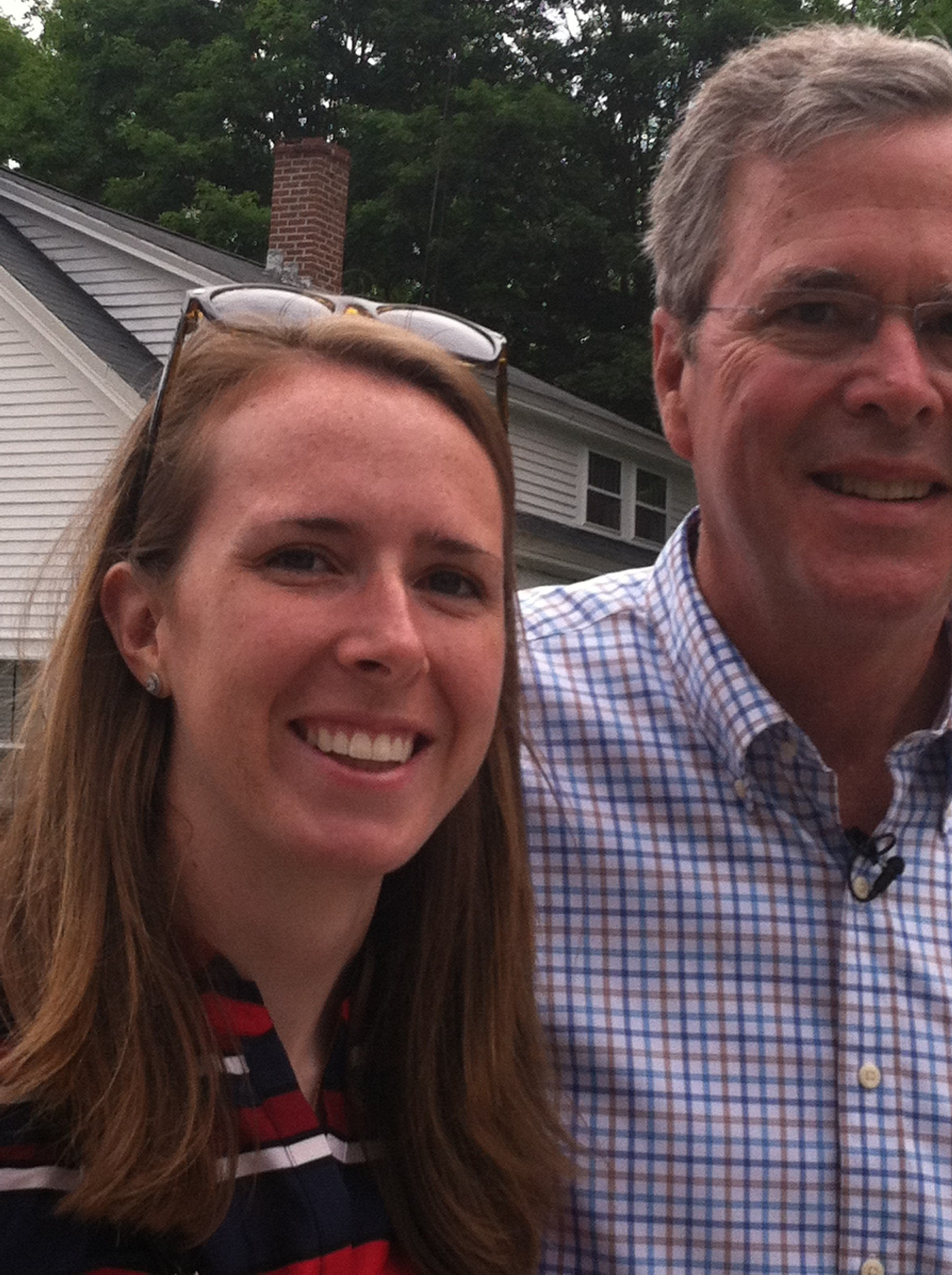 Johanna Wenger and Jeb Bush