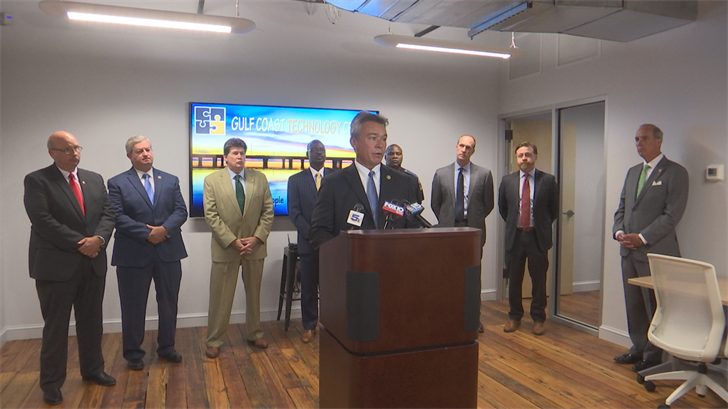 Mobile Public Safety Director James Barber at the new Gulf Coast Technology Center (FOX10 News)