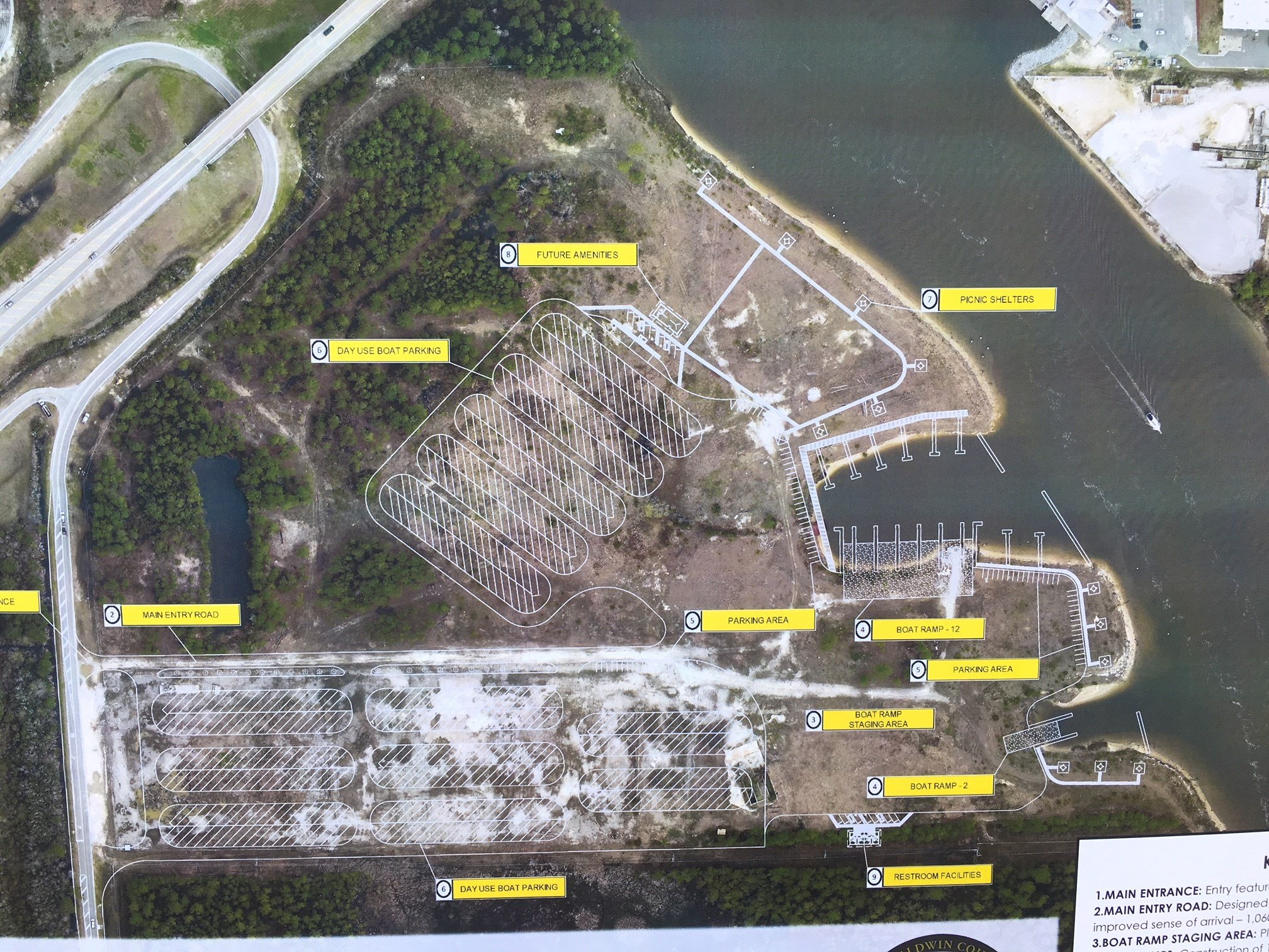 Plan for new boat and kayak ramps with parking in southern Baldwin County