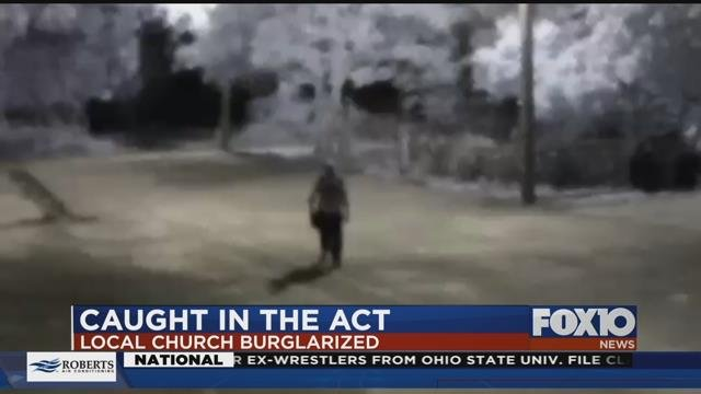 Surveillance video image of suspect who MPD say broke into local church. Source: MPD