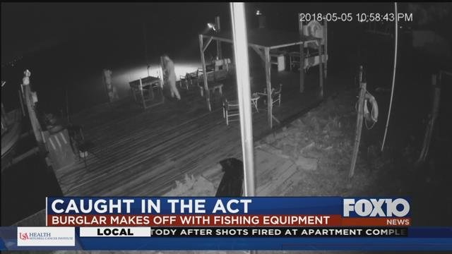 Surveillance image from Dauphin Island's Harbor House. Source: Harbor House